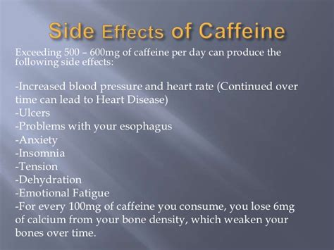 Caffeine Detox Side Effects by Caffeine Power Point