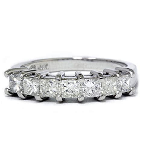1ct princess cut wedding anniversary ring 14k