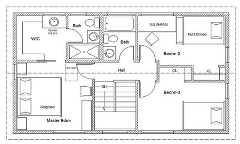 free blueprints for homes 2 bedroom house simple plan simple house floor plan