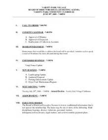 communication meeting agenda template best photos of exle of board meeting agenda sle