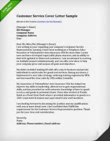 How To Write A Customer Service Cover Letter by Customer Service Resume Sles Writing Guide