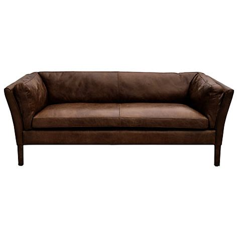 Halo Leather Sofa Buy Halo Groucho Medium Aniline Leather Sofa Lewis