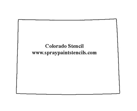 Colorado State Map Outline by Free States And Country Stencils