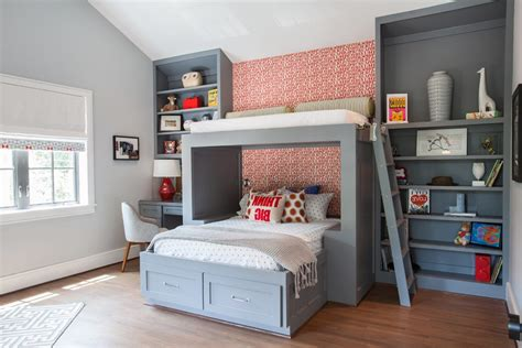 Houston Upholstery Repair Splendid Custom Bunkbeds With Under Bed Storage Gray And Red