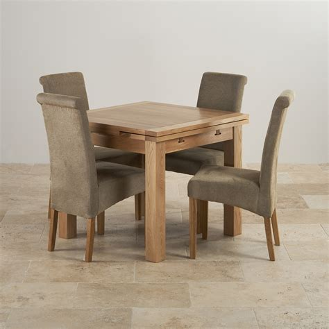 Dining Table With Fabric Chairs Dorset Oak 3ft Dining Table With 4 Fabric Chairs