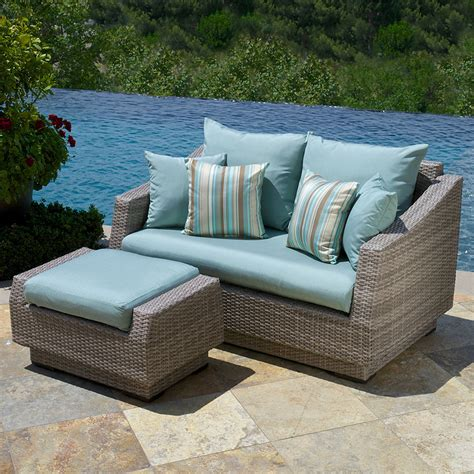 Blue Patio Chairs Blue Wicker Patio Furniture Fullerton 4 Pc Wicker Patio Furniture Set Linen Set Of 2 Black