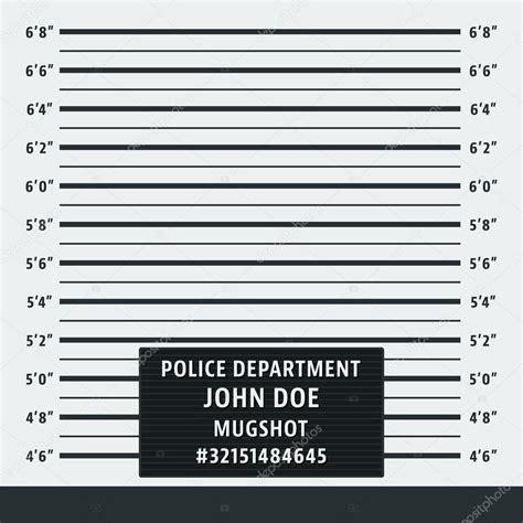 mugshot card template fondo policial mugshot vector de stock 169 bobevv 108026618