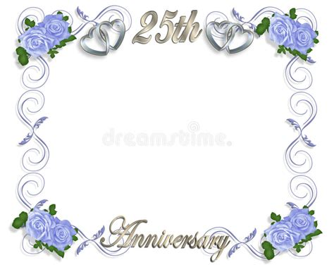 25th birthday card templates 25th anniversary template stock illustration illustration