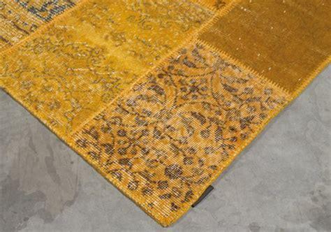 teppich gelb schwarz angelo rugs patchwork teppich up cycle gelb kaufen
