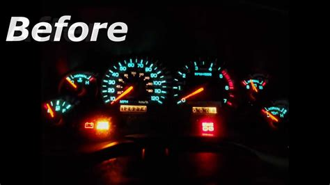 mustang led dash lights easy green to white mustang gauge mod youtube
