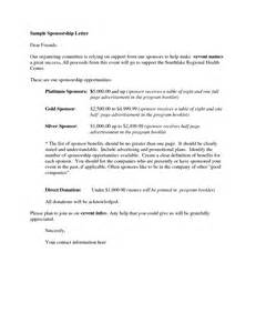 Letter Requesting Sponsorship For Charity Event sponsorship letter proposal 40 sponsorship letter
