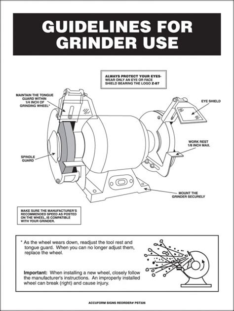 bench grinder regulations grinder safety poster images