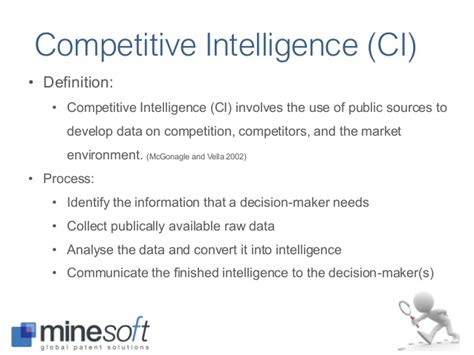 8 Competitive Intelligence Data Sources Ii Pic 2017 The Use Of Patent Information For Innovation And Competi