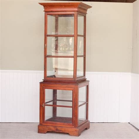 Wood Display Cabinets With Glass Doors Antiquescabinet Jackfruit Wood Display Tower Jackfruit And Glass Display Cabinet From A Turn