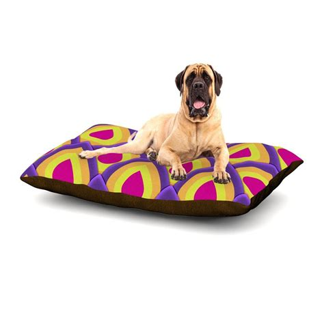 pineapple dog bed roberlan quot pineapple quot pink yellow dog bed kess inhouse