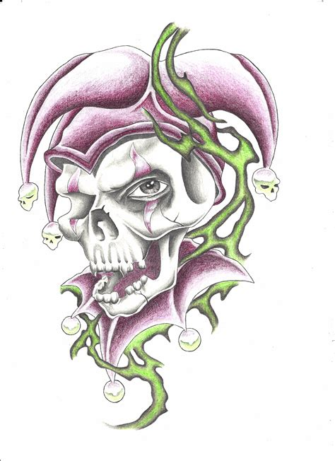 tribal joker tattoos jester images designs
