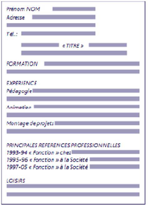 Présentation De Lettre Sous Couvert resume format cv sous forme de tableau gratuit