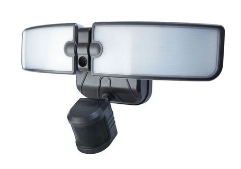 defiant 180 degree outdoor bronze led blade motion