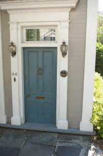 Blue Kitchen Canisters by Front Door Color A Interior Design
