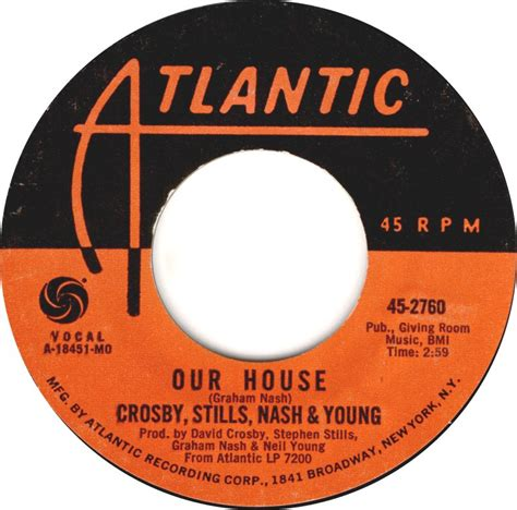 david crosby our house 45cat crosby stills nash and young our house deja