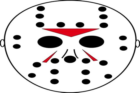 printable jason voorhees mask free scary pumpkin stencils printable templates