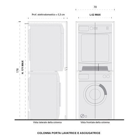 mobile lavatrice asciugatrice colonna porta lavatrice e asciugatrice blizzard arredaclick