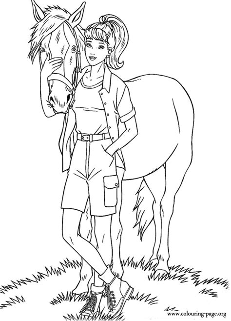 barbie animal coloring pages barbie barbie and tawny coloring page coloring page