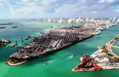 miami port image of the day miami port in emerald grip world