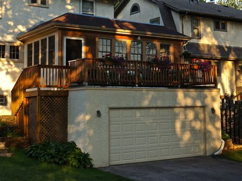 garage addition   season porch traditional