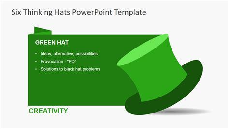 hats template de bono s six thinking hats powerpoint template slidemodel