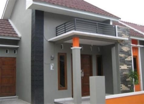 warna cat rumah dua warna  modern  minimalis