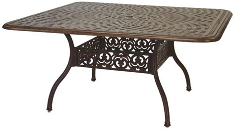 vintage outdoor square dining table dining tables from 201060 w darlee 60 quot square dining patio table in cast aluminum with a mocha or antique bronze finish