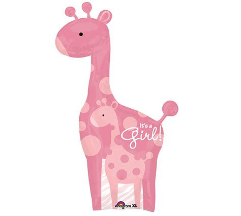 Pink Giraffe Baby Shower by Pink Giraffe Balloon