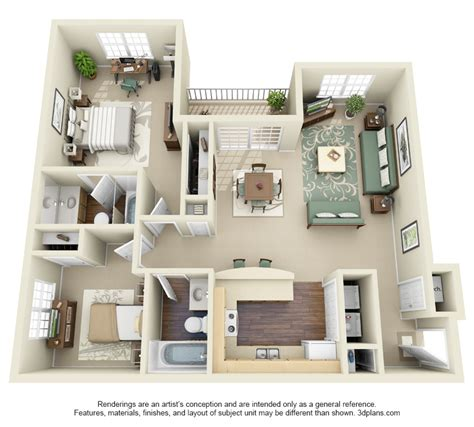 Two Bedroom Appartment by 2 Bedroom Apartments Winda 7 Furniture