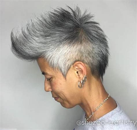 asian salt and pepper hairstyle images top 40 hottest very short hairstyles for women