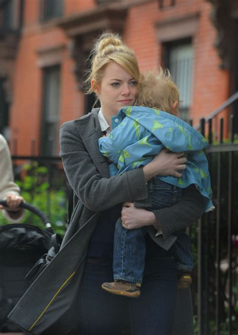 emma stone child emma stone holding a child out about in new york 28th
