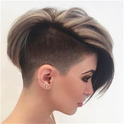 woman half shaved haircuts half shaved womens hairstyles regarding your beauty my salon