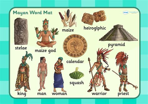 ks2 mayan civilization word mat historical study mayan