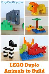 Make Your Own House Game lego duplo animals to build