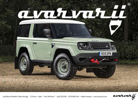 land rover defender 2019 2019 landrover defender rendering cars daily