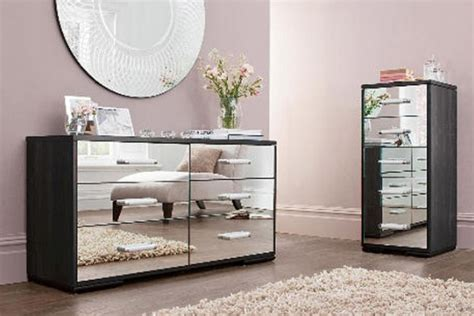 glass mirror bedroom furniture vintage mirrored dresser