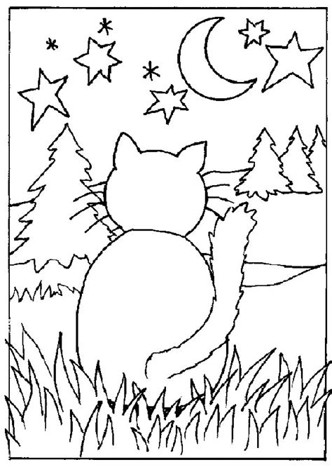 coloring pages a cat free coloring pages of cat playing ball