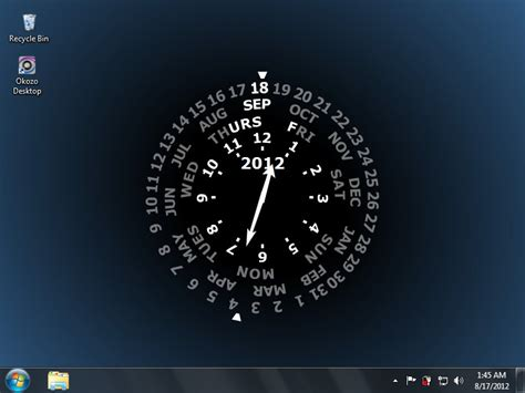 clock themes windows blue wheel desktop clock free download blue wheel