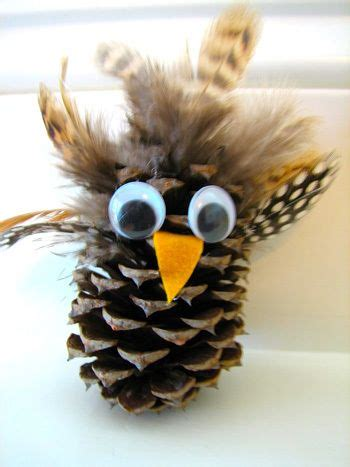 owl creations from pine cones and fluff best 25 pine cone ideas on