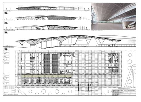 section and elevation architecture photography new trade fair building winning