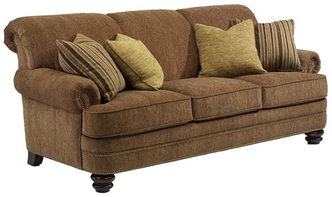 traditional loveseats flexsteel bay bridge traditional rolled back sofa