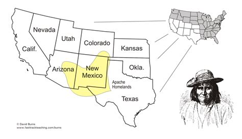 american apache map impact on indians