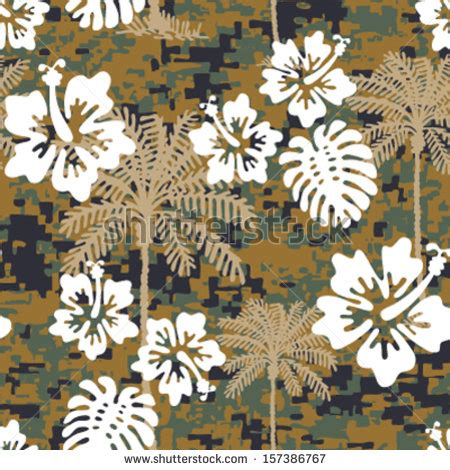 best camo pattern for hawaii floral camouflage stock photos images pictures