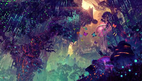 sfondi paesaggio arte digitale fantasy art citta