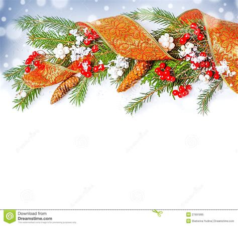 christmas decorations border royalty free stock photo